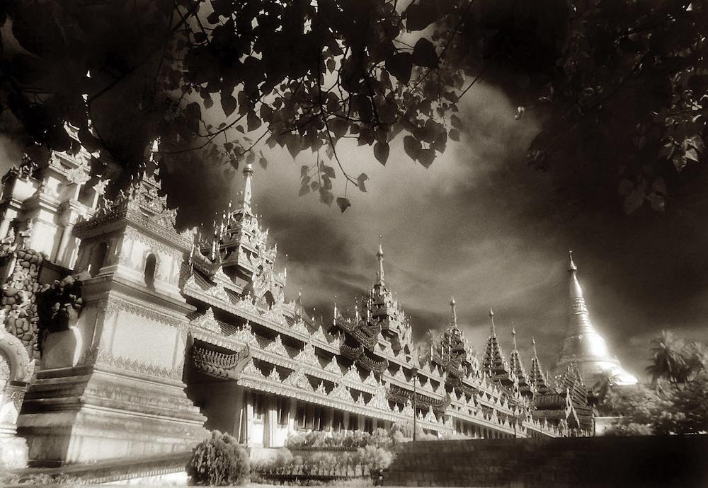 Shwedagon Walkway - Yangon, Myanmar..