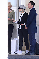 Helen Mirren leaves hotel Martinez. 20 May 2019 Pictured: Helen Mirren. Photo credit: AFPS/MEGA TheMegaAgency.com +1 888 505 6342