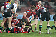 GLOUCESTER RUGBY'S Jordy Reid  during the Gallagher Premiership Rugby match between Gloucester Rugby and Harlequins at the Kingsholm Stadium, Gloucester, United Kingdom on 6 December 2020.
