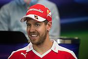 May 25-29, 2016: Monaco Grand Prix. Sebastian Vettel (GER), Ferrari FIA Press Conference