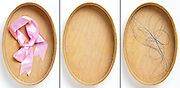 serries wooden oval box with and without content