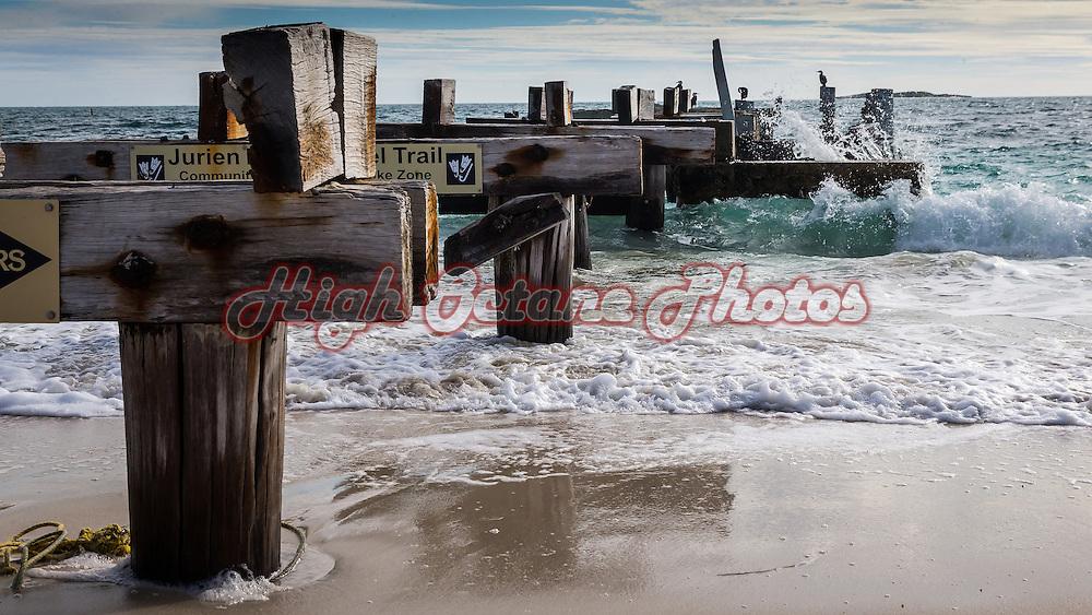 Old jetty pylons at Jurien Bay, Western Australia