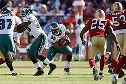 12 Oct 2008: Philadelphia Eagles FS Quintin Demps #39 returns a punt during the game against the San Francisco 49ers on October 12th, 2008. The Eagles won 40-26 at Candlestick Park in San Francisco, California. (Photo by Brian Garfinkel) (Photo by Brian Garfinkel)