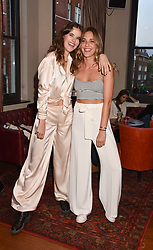 Left to right, Frankie Herbert and Daisy Knatchbull at The Tribe Syndicate launch party hosted by Highclere Thoroughbred Racing at Beaufort House, 354 King's Rd, London England. 25 April 2018.