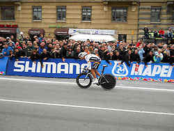 Tony Martin of Germany during the Elite Men's Time Trial on day three of the UCI Road World Championships on September 21, 2011 in Copenhagen, Denmark. (Photo by Marjan Kelner / Sportida Photo Agency)
