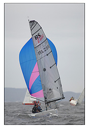 The Brewin Dolphin Scottish Series, Tarbert Loch Fyne..Day 3 Grey and windy conditions on Loch Fyne...IRL2515 No Angel RUYC/SLYC RS Elite Fiona Hicks..Credit : Marc Turner / PFM.