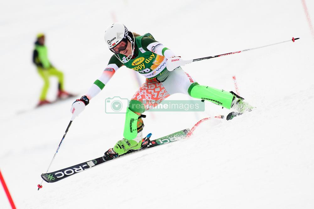 January 7, 2018 - Kranjska Gora, Gorenjska, Slovenia - Maria Shkanova of Belarus competes on course during the Slalom race at the 54th Golden Fox FIS World Cup in Kranjska Gora, Slovenia on January 7, 2018. (Credit Image: © Rok Rakun/Pacific Press via ZUMA Wire)