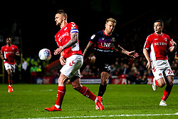 James Coppinger of Doncaster Rovers take on Patrick Bauer of Charlton Athletic - Mandatory by-line: Robbie Stephenson/JMP - 17/05/2019 - FOOTBALL - The Valley - Charlton, London, England - Charlton Athletic v Doncaster Rovers - Sky Bet League One Play-off Semi-Final 2nd Leg