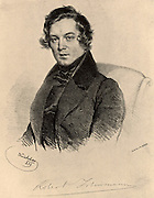 Robert Schumann (1810-1856) German Romantic composer. Lithograph.