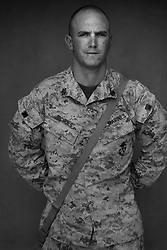 Staff Sgt. Andrew Nichols, 26, Klamath Falls, Oregon, First Platoon, Kilo Co., 3rd Battalion 1st Marines, 1st Marine Division, United States Marine Corps, at the company's firm base in Haditha, Iraq on Sunday Oct. 22, 2005.