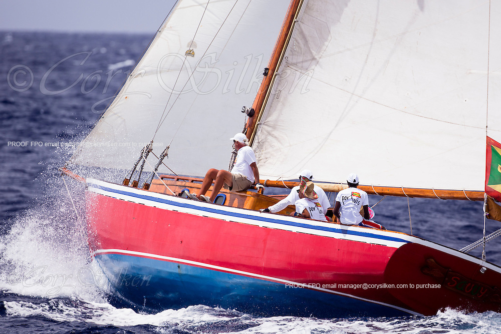 Savvy sailing in the Antigua Classic Yacht Regatta, Old Road Race.