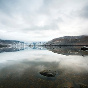 Sanabria lake on a calm winter day
