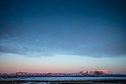 Mývatn, Iceland, 4 apr 2019, Sunset.