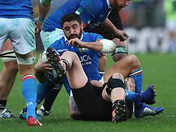 November 24, 2018 - Rome, Italy - Italy v New Zealand All Blacks - Rugby Cattolica Test Match.Italys Tito Tebaldi at Olimpico Stadium in Rome, Italy on November 24, 2018. (Credit Image: © Matteo Ciambelli/NurPhoto via ZUMA Press)