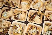 """Chef Ben Meyer of Old Salt Marketplace created a tasting to highlight Apios Americana, in the dish called """"Apios Three Ways"""", crispy chips, creamy puree, marinaded ribbons, each highlighted a different trait of the tubers."""