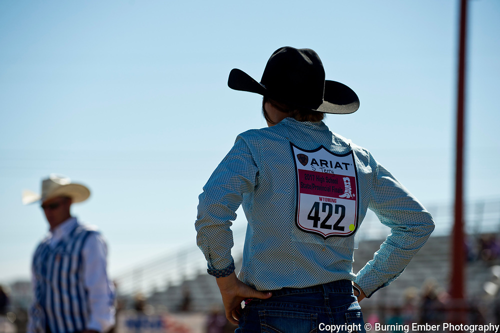 Shaylee Terry in the Goat Tying event Friday morning go at the Wyoming State High School Finals Rodeo in Rock Springs Wyoming.  Photo by Josh Homer/Burning Ember Photography.  Photo credit must be given on all uses.