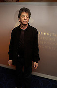 Lou Reed. 50th Ivor Novello Awards, Grosvenor House. London. 26 may 2005. ONE TIME USE ONLY - DO NOT ARCHIVE  © Copyright Photograph by Dafydd Jones 66 Stockwell Park Rd. London SW9 0DA Tel 020 7733 0108 www.dafjones.com
