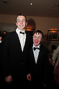 John Murphy, Loughrea and Thomas Nash at the  Ability West,  second annual Best Buddies ball, 2010 in the Galway Bay Hotel, Salthill Galway. Photo:Andrew Downes.