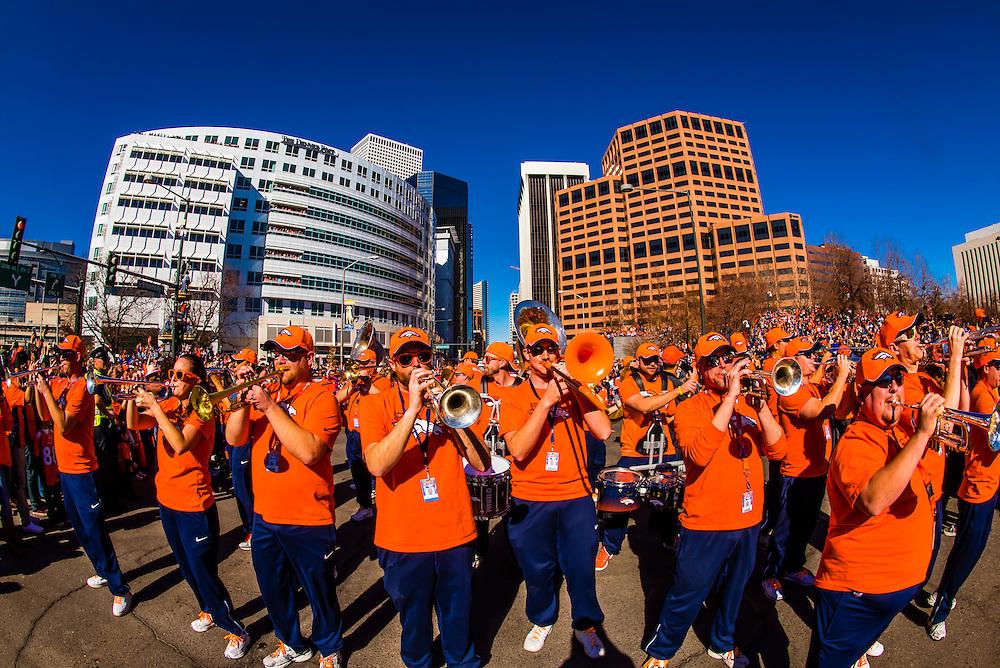 Denver Broncos Super Bowl 50 Victory Parade, Downtown Denver, Colorado USA.