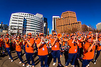 Denver Broncos Super Bowl 50 Victory Parade, Downtown Denver, Colorado USA.