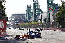 July 15, 2018 - Toronto, Ontario, Canada - SCOTT DIXON (9) of New Zealand battles for position during the Honda Indy Toronto at Streets of Toronto in Toronto, Ontario. (Credit Image: © Justin R. Noe Asp Inc/ASP via ZUMA Wire)