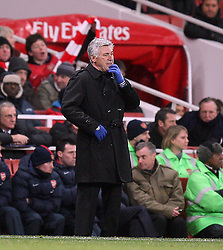 27.12.2010, Emirates Stadium, London, ENG, PL, FC Arsenal vs Chelsea FC, im Bild // a puzzled Carlo Ancelotti , Manager of Chelsea in  the match Arsenal fc vs Chelsea fc for the EPL at the Emirates Stadium in London on 27/12/2010, EXPA Pictures © 2010, PhotoCredit: EXPA/ IPS/ M. Pozzetti *** ATTENTION *** UK AND FRANCE OUT!