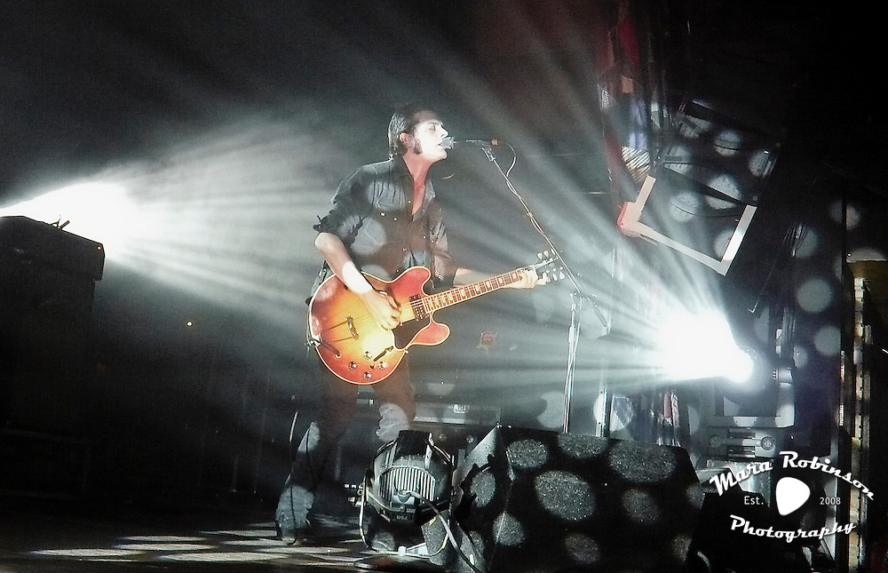 Peter Hayes, Black Rebel Motorcycle Club (BRMC), at the House of Blues. Concert photography by Akron music photographer, Cleveland music photographer Mara Robinson