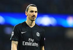 Zlatan Ibrahimovic of Paris Saint-Germain  - Mandatory byline: Matt McNulty/JMP - 07966386802 - 12/04/2016 - FOOTBALL - Etihad Stadium -Manchester,England - Manchester City v Paris Saint-Germain - UEFA Champions League - Quarter Final Second Leg
