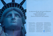 American Express Statue of Liberty Blue