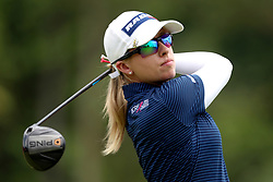 March 2, 2019 - Singapore - Jodi Ewart Shadoff of England tees off on the 9th hole during the third round of the Women's World Championship at the Tanjong Course, Sentosa Golf Club. (Credit Image: © Paul Miller/ZUMA Wire)