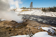 Steam vent by Firehole River, Yellowstone National Park