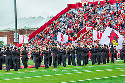 NORMAL, IL - October 02: Big Red Marching Machine during a college football game between the Bears of Missouri State and the ISU (Illinois State University) Redbirds on October 02 2021 at Hancock Stadium in Normal, IL. (Photo by Alan Look)