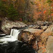 Little Bald River Falls - Autumn - Fall Color