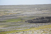 Limestone scenery view from Dun Aengus fort Inishmore, Aran Islands, County Clare, Ireland
