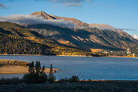 Twin lakes and Twin Peaks of the Sawatch Range, Colorado.