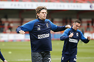Mads Bech Sørensen of Wimbledon warming up during the EFL Sky Bet League 1 match between Accrington Stanley and AFC Wimbledon at the Fraser Eagle Stadium, Accrington, England on 1 February 2020.