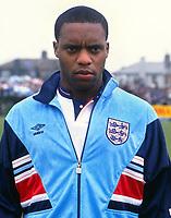 Football - Republic of Ireland 'B' ( Eire) v England 'B' <br /> <br /> England's Dalian Atkinson at Turners Cross<br /> <br /> 27/03/1990