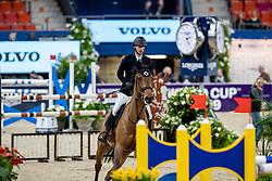 DEVOS Pieter (BEL), Flash<br /> Göteborg - Gothenburg Horse Show 2019 <br /> Int. jumping competition presented by Volvo<br /> Against the clock (1.40 m)<br /> Longines FEI Jumping World Cup™ Final and FEI Dressage World Cup™ Final<br /> 03. April 2019<br /> © www.sportfotos-lafrentz.de/Stefan Lafrentz