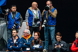 / in action on the 1500 meter during ISU World Cup Finals Shorttrack 2020 on February 15, 2020 in Optisport Sportboulevard Dordrecht.