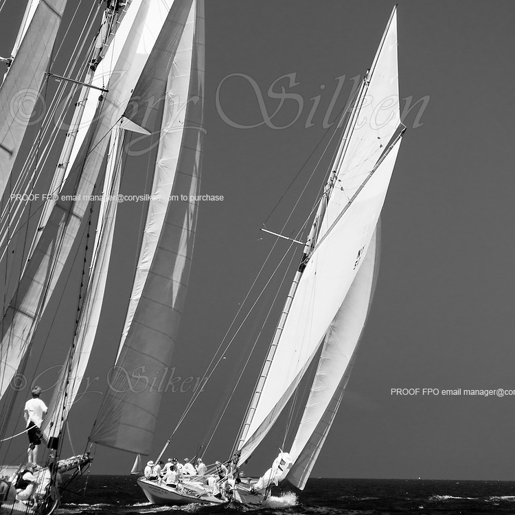 When and If and Marilee sailing in the Nantucket Opera House Cup regatta.