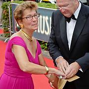 NLD/Hilversum/20080602 - Musical Award Gala 2008, Joop van der Ende en partner janine Klijburg