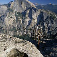 Half Dome and Mount Starr King, viewed from Glacier Point in Yosemite National Park, California.