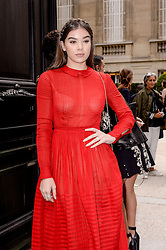 Hailee Steinfeld arriving at the Valentino show as a part of Paris Fashion Week Ready to Wear Spring/Summer 2017 on October 2, 2016 in Paris, France. Photo by Julien Reynaud/APS-Medias/ABACAPRESS.COM