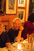 AGNES B, Charles Finch and  Jay Jopling host dinner in celebration of Frieze Art Fair at the Birley Group's Harry's Bar. London. 10 October 2012.