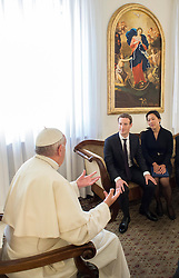 Pope Francis has met with Facebook founder and CEO Mark Zuckerberg and his wife Priscilla Chan at the Vatican on August 29, 2016. The chat took place in the Santa Marta residence, the guest house where the pope lives. One topic of discussion at the meeting was 'how to use communication technologies to alleviate poverty, encourage a culture of encounter, and make a message of hope arrive, especially to those most in need.' Photo by ABACAPRESS.COM