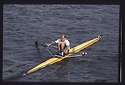 London. United Kingdom. Marist CHMIEL.1990 Scullers Head of the River Race. River Thames, viewpoint Chiswick Bridge Saturday 07.04.1990<br /> <br /> [Mandatory Credit; Peter SPURRIER/Intersport Images] 19900407 Scullers Head, London Engl