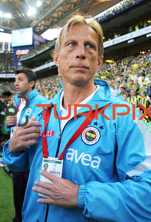 Fenerbahce's coach Christoph DAUM during their Turkish superleague soccer derby match Fenerbahce between Trabzonspor at the Sukru Saracaoglu stadium in Istanbul Turkey on Sunday 16 May 2010. Photo by TURKPIX