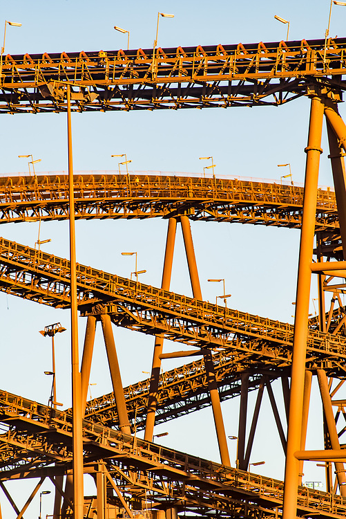 Part of a processing plant at a mine in the Pilbara region of Western Australia.