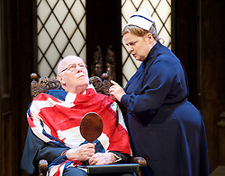 Forty Years On <br /> by Alan Bennett <br /> at Festival Theatre Chichester , Great Britain <br /> press photocall <br /> 25th April 2017 <br /> <br /> Richard Wilson as Headmaster<br /> <br /> Jenny Galloway as Matron <br /> <br /> <br /> <br /> <br /> Photograph by Elliott Franks <br /> Image licensed to Elliott Franks Photography Services