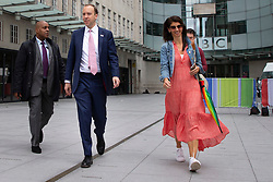 ** FILE PICTURE**© Licensed to London News Pictures. 05/07/2020. London, UK. Secretary of State for Health and Social Care Matt Hancock departs the BBC with his senior aide Gina Coladangelo  Photo credit: George Cracknell Wright/LNP